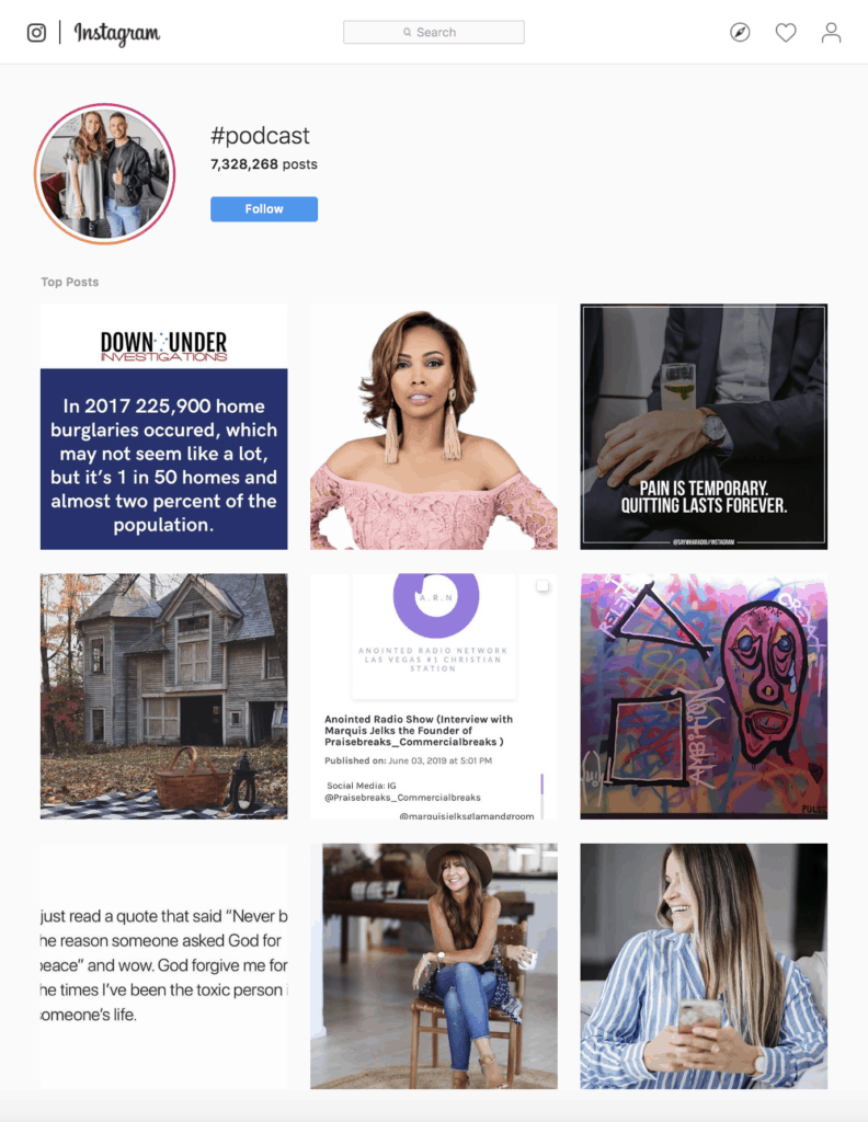 photos with #podcast on instagram